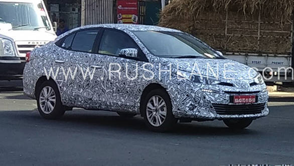 Toyota Vios spied ahead of Auto Expo 2018 debut
