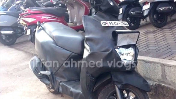 TVS Graphite concept-based scooter spied testing again