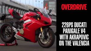 226PS Ducati Panigale V4 with Akrapovic on the Valencia MotoGP circuit