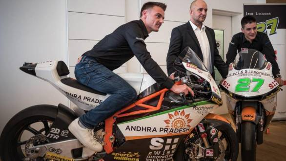 State of Andhra Pradesh to sponsor Swiss Moto2 outfit