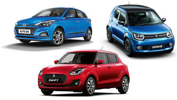 Spec comparison: 2018 Maruti Suzuki Swift vs 2018 Hyundai Elite i20 vs Maruti Suzuki Ignis