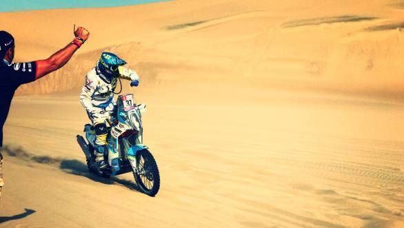Of the indefatigable spirit of the Dakar competitors...