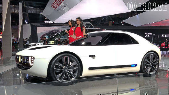 Auto Expo 2018 Honda Sports Ev Concept Showcased Overdrive
