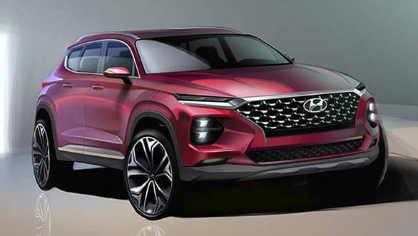 2019 Hyundai Santa Fe teased in sketches before Geneva debut