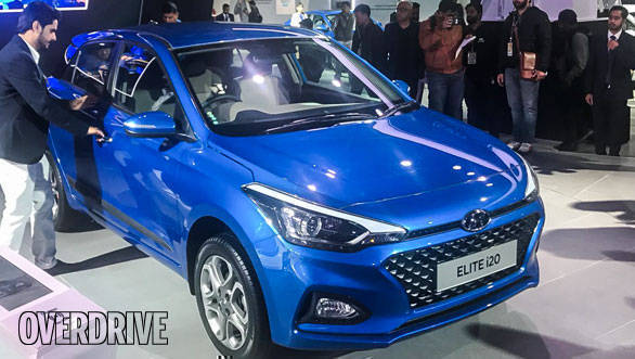 auto expo 2018 new 2018 hyundai elite i20 facelift. Black Bedroom Furniture Sets. Home Design Ideas