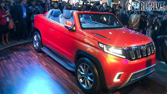 Auto Expo 2018: Mahindra TUV Stinger concept is a sub-4m convertible SUV