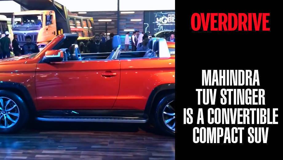 Mahindra TUV Stinger is a convertible compact SUV | Auto Expo 2018