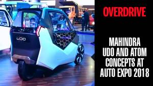 Mahindra Udo and Atom concepts | Auto Expo 2018