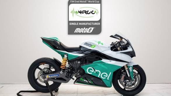 Dorna unveils motorcycle for 2019 FIM MotoE world cup