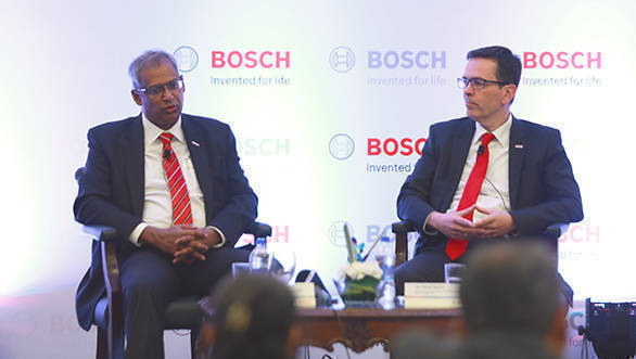 Soumitra Bhattacharya, managing director, Bosch Limited and president, Bosch India Group and Jan Oliver Rohrl, chief technical officer and director, Bosch Ltd.