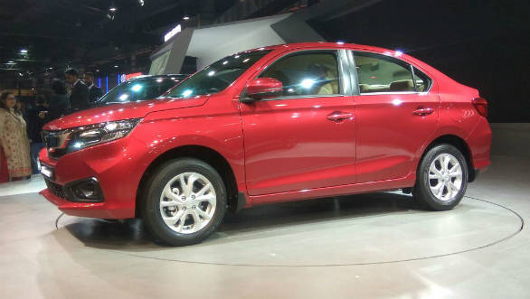 Auto Expo 2018: All new Honda Amaze showcased, to rival Maruti Suzuki Dzire