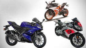 Spec comparison: 2018 Yamaha YZF-R15 vs 2018 Aprilia RS 150 vs 2017 KTM RC 200