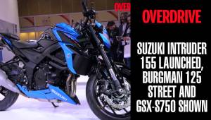 Suzuki Intruder 155 launched, Burgman 125 Street and GSX-S750 shown | Auto Expo 2018