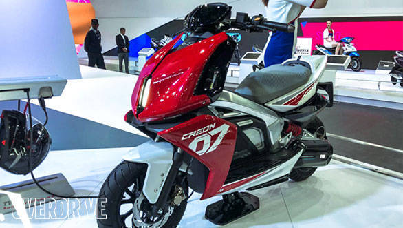 Auto Expo 2018: TVS Creon performance electric scooter - claimed 0 to 60 kmph in 5.1 seconds