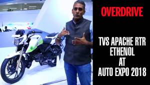 TVS Apache RTR Ethenol | Auto Expo 2018