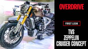 TVS Zeppelin cruiser concept first look | Auto Expo 2018