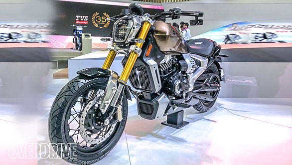Auto Expo 2018: TVS Zeppelin cruiser concept showcased