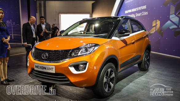 Auto Expo 2018: Tata Nexon AMT showcased, image gallery