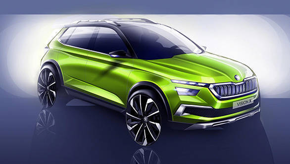 Skoda Vision X concept SUV based on VW T-Roc teased ahead of Geneva reveal