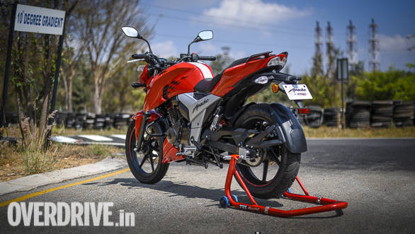 2018 TVS Apache RTR 160 4V Image Gallery - Overdrive