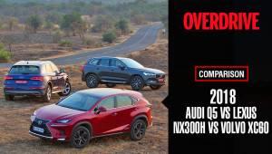 Comparo: 2018 Audi Q5 vs 2018 Lexus NX300h vs 2018 Volvo XC60