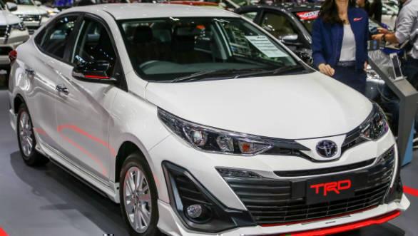 Toyota Yaris TRD shown at 2018 Bangkok Motor show