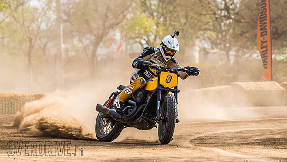 Harley-Davidson Flat Track Experience Marco Belli Action