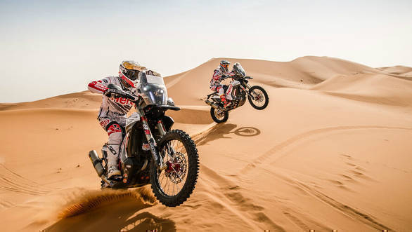 Hero MotoSports Team Rally's Hero 450 RR to make Indian debut at 2018 Desert Storm