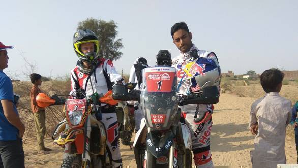 Maruti Suzuki Desert Storm 2018: CS Santosh leads Moto class after Leg 2
