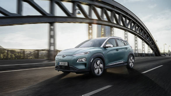 2019 Hyundai Kona Electric will be the company's first all-electric model for India