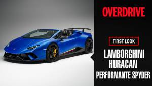 Lamborghini Huracan Performante Spyder showcase at the 2018 Geneva Motor Show