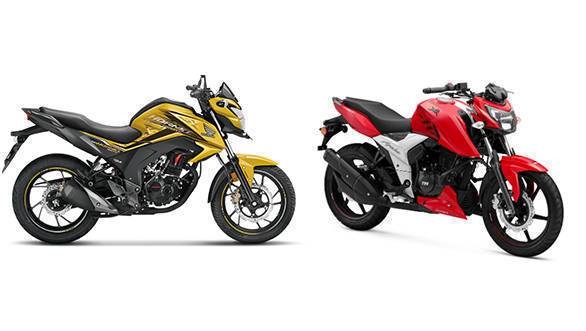 Spec Comparison: TVS Apache RTR 160 4V and Honda CB Hornet 160R