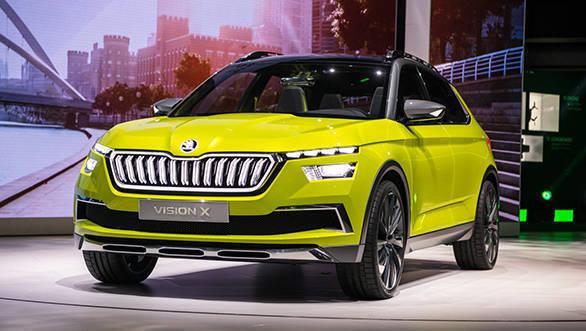 Geneva Motor Show 2018: Skoda Vision X concept hybrid crossover unveiled