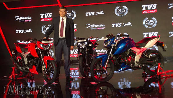 2018 TVS Apache RTR 160 4V launched in India at Rs 81,490
