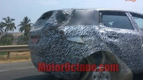 Production-spec Tata H5X SUV seen in camouflage