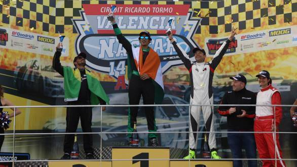 NASCAR Whelen Euro Series 2018: Advait Deodhar wins Elite Club Division event at Valencia