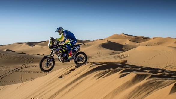 2018 Merzouga Rally: Sherco TVS Factory Rally's Joan Pedrero Garcia fourth after Prologue Stage