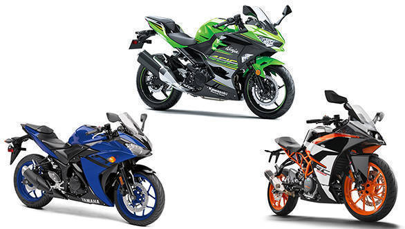 spec comparison all new kawasaki ninja 400 vs ktm rc 390 vs 2018 yamaha yzf r3 overdrive. Black Bedroom Furniture Sets. Home Design Ideas