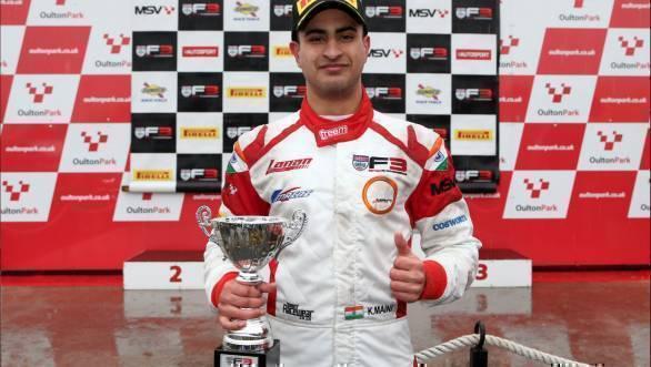 BRDC British F3: Kush Maini scores podium at Oulton Park