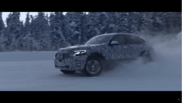 Mercedes Benz EQ C shown undergoing winter tests