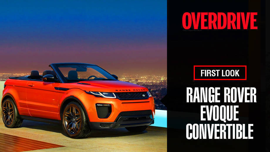 Range Rover Evoque Convertible - First Look