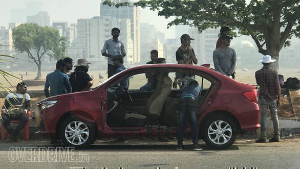 2018 Honda Amaze caught while shooting for TVC in India, to be launched in May
