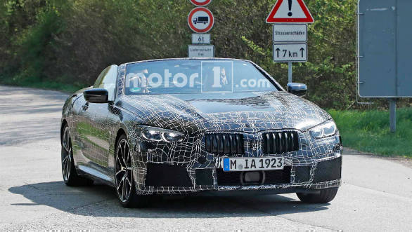 BMW 8 Series spotted testing in convertible form
