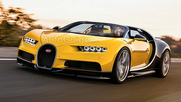 Bugatti Chiron Grand Sport roadster rendered