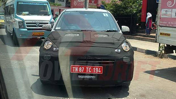 New Hyundai Santro spied testing again, more details revealed