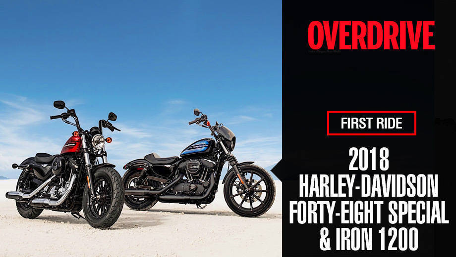 2018 Harley-Davidson Forty-Eight Special & Iron 1200 first ride feature review
