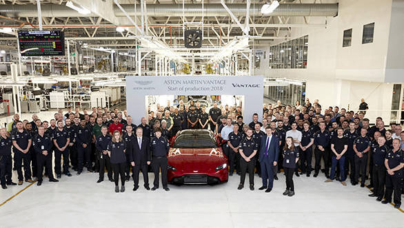 2019 Aston Martin Vantage production begins at Gaydon, Warwickshire