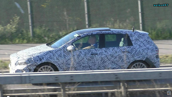 next generation mercedes benz b class spotted testing to be based