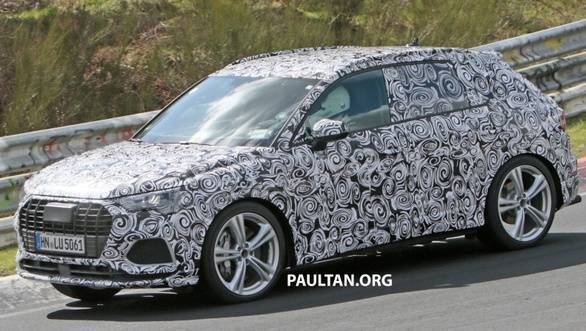 New Audi SQ3 SUV spotted testing at Nurburgring