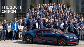 100th handcrafted Bugatti Chiron rolled out